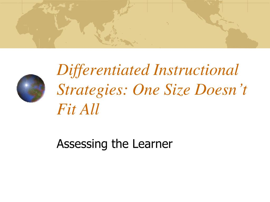 differentiated instructional strategies one size doesn t fit all l.