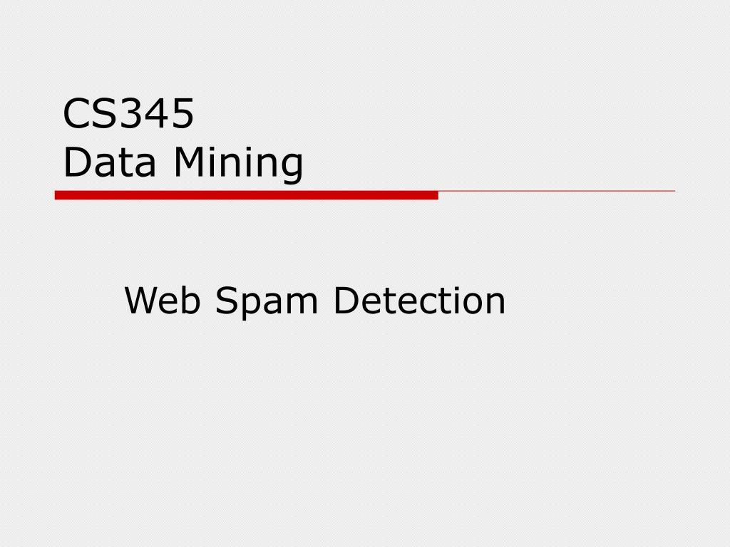 cs345 data mining l.