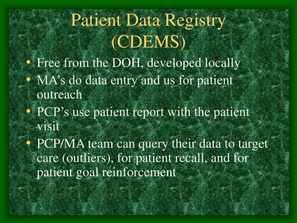 Patient Data Registry