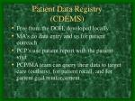 patient data registry cdems