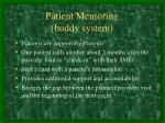 patient mentoring buddy system