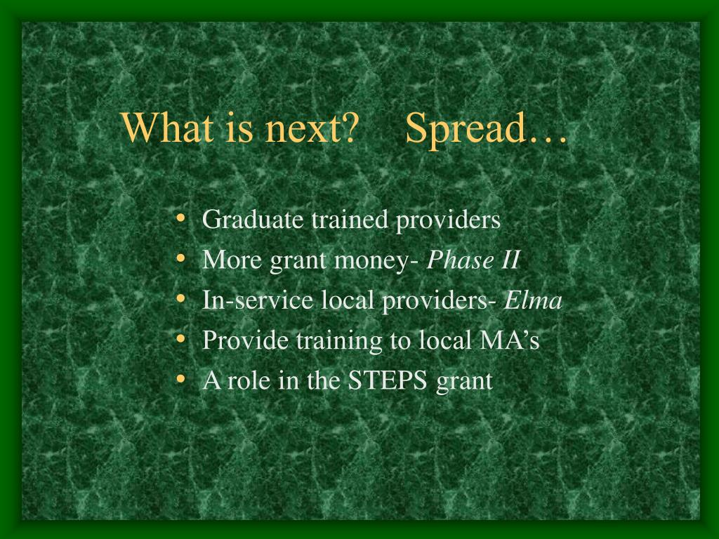 What is next?    Spread…