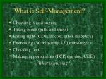 what is self management