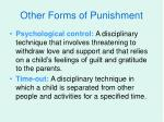 other forms of punishment