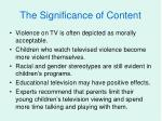 the significance of content
