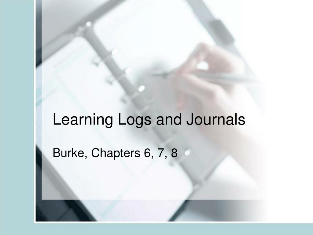 learning logs and journals l.