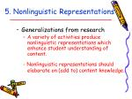 5 nonlinguistic representations