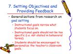 7 setting objectives and providing feedback