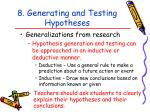 8 generating and testing hypotheses