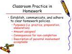 classroom practice in homework