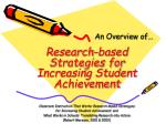 research based strategies for increasing student achievement