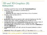 2d and 3d graphics ii