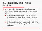 5 3 elasticity and pricing decision56