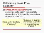 calculating cross price elasticity