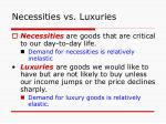 necessities vs luxuries