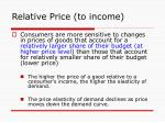 relative price to income