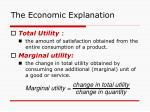 the economic explanation12