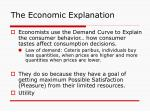 the economic explanation8