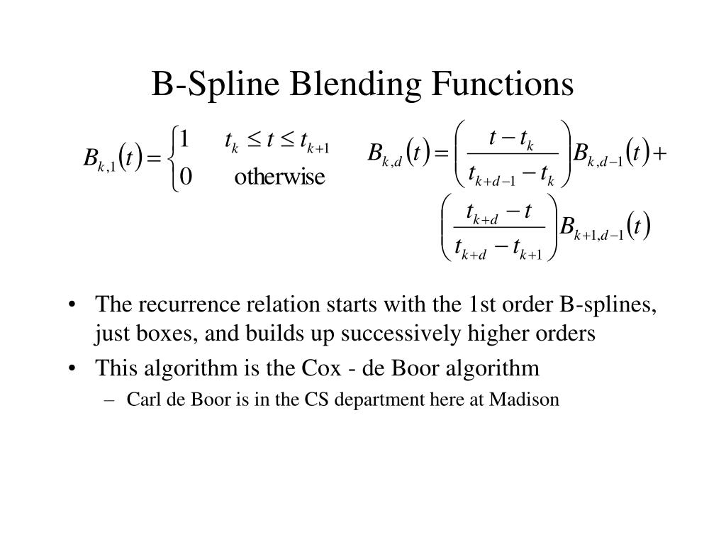 b spline blending functions l.