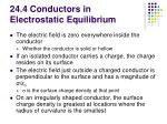 24 4 conductors in electrostatic equilibrium