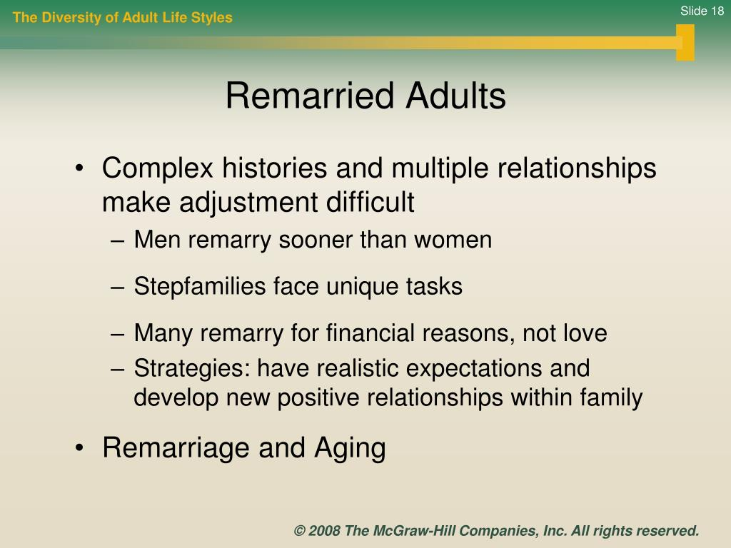 The Diversity of Adult Life Styles