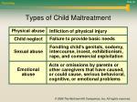 types of child maltreatment