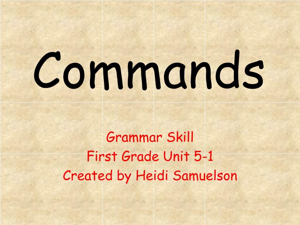 commands l.