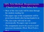 efl tch method requirements check list 2 true false actv