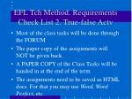 efl tch method requirements check list 2 true false actv6