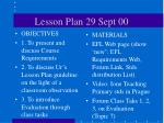 lesson plan 29 sept 00