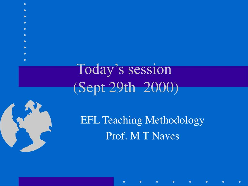 today s session sept 29th 2000 l.