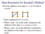 data structures for kruskal s method18