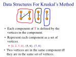 data structures for kruskal s method19