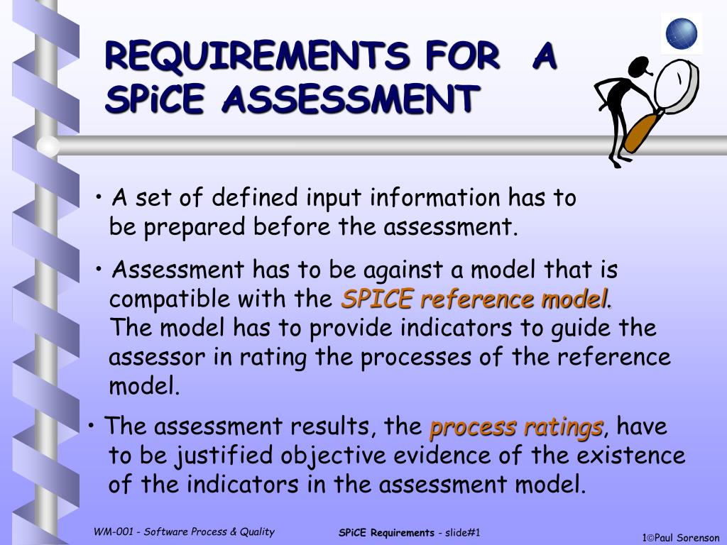 requirements for a spice assessment l.