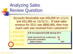 analyzing sales review question