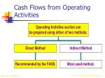 cash flows from operating activities16