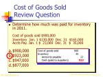 cost of goods sold review question23
