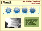 user friendly shopping environment