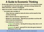 a guide to economic thinking