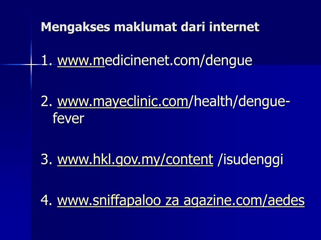 Mengakses maklumat dari internet