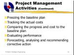 project management activities continued