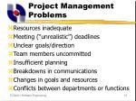 project management problems
