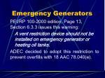 emergency generators