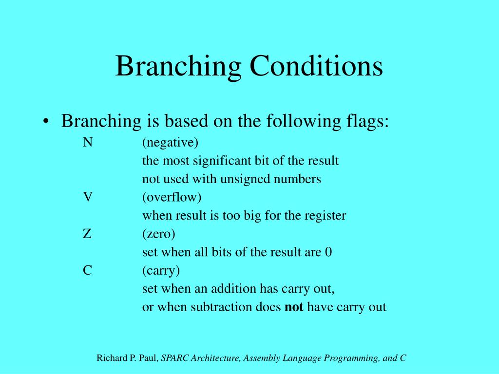Branching Conditions