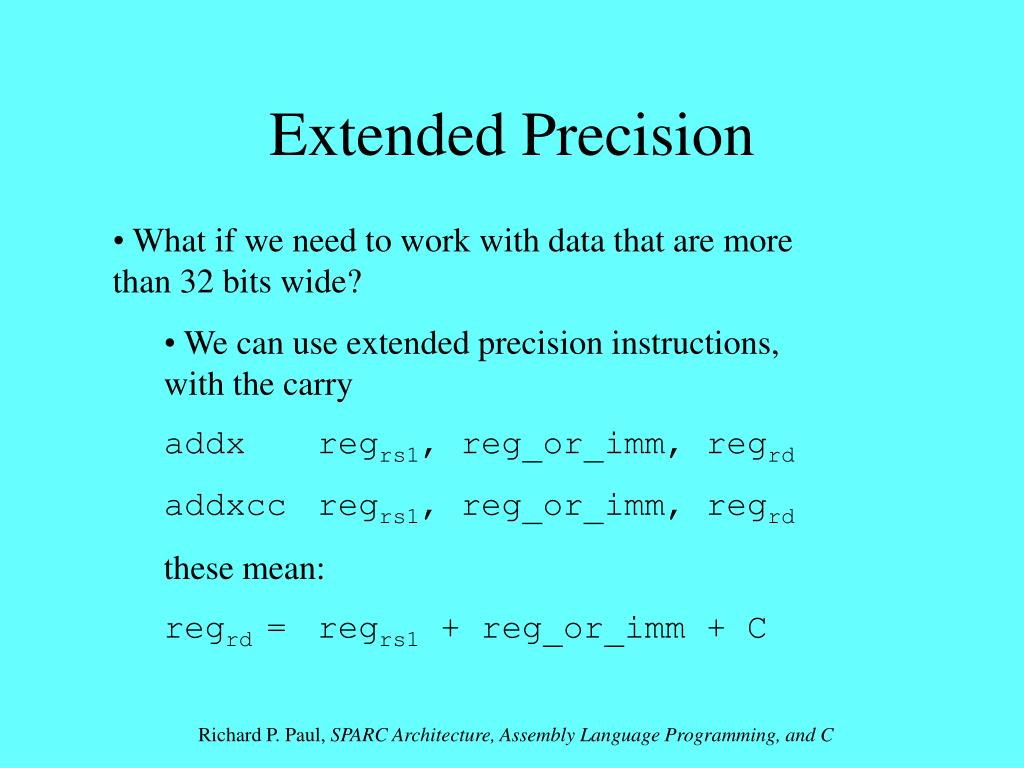 Extended Precision