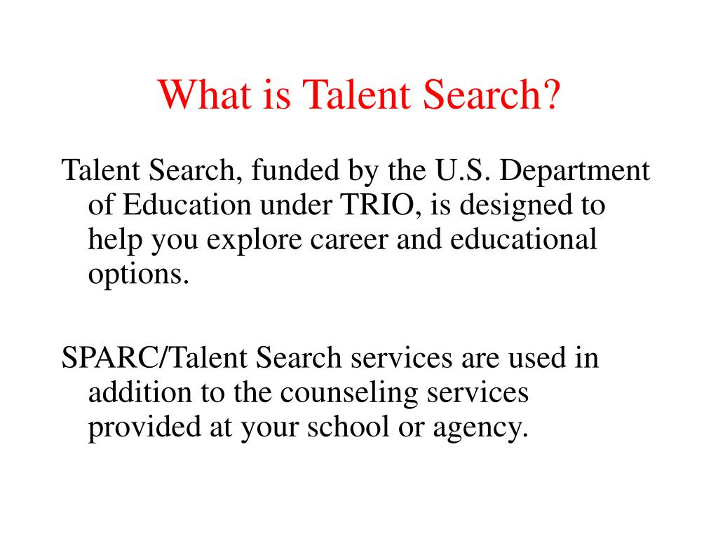 what is talent search l.