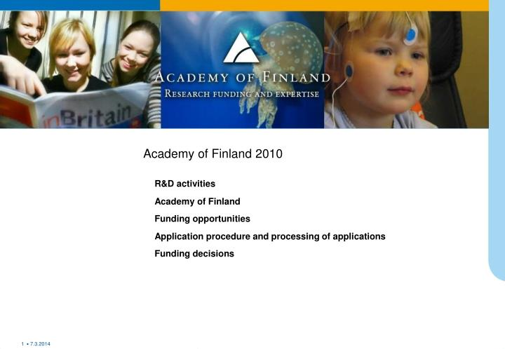academy of finland 2010 n.