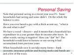 personal saving