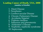 leading causes of death usa 2000