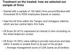 treatment on the treated how we selected our sample of firms